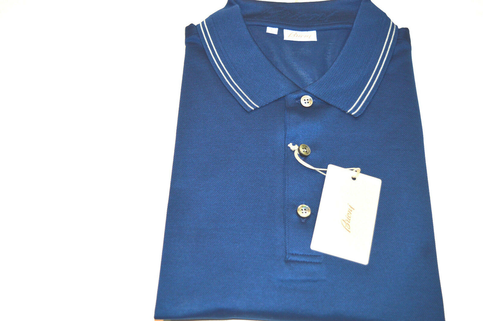 NEW  BRIONI Polo  Short Sleeve Cotton Größe L Us Eu 52 (SP19)