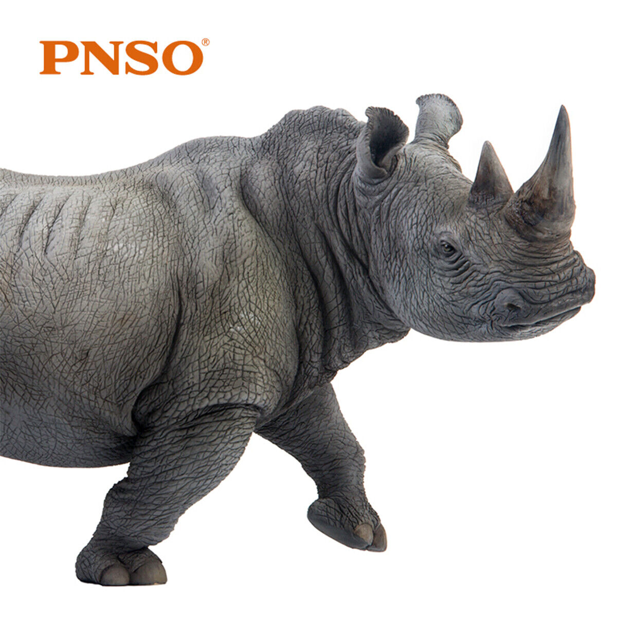 PNSO Africa bianca Rhinoceros Model Rhinos Animal Figure Decor Collector Kid Toy