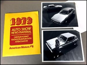 1973 AMC Media Brochure Press Kit  AMX Javelin Hornet Gremlin Matador Ambassador