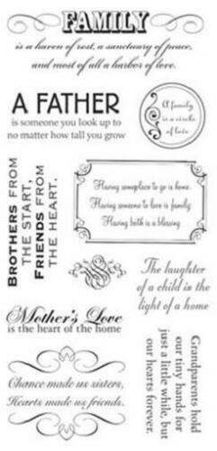 TPC STUDIO Clear Stamps ALL IN THE FAMILY Mother Father Love Grandparents Heart