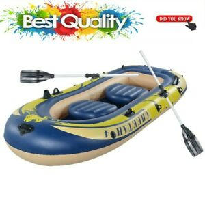 Inflatable-Fishing-Boat-Raft-PVC-Canoe-Dinghy-Tender-3-Person-Kayak-With-2-Oars