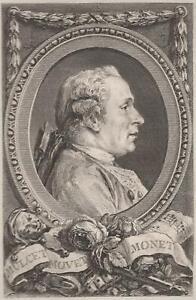 Cochin-Saint-Aubin-Portrait-de-Jean-Monnet-Theatre-gravure-originale-XVIIIe