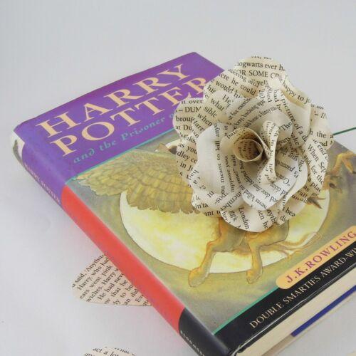 Single Harry Potter Book Page Paper Flower Rose handmade flower