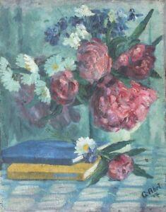 Stilleben-mit-Margeriten-und-Rosen-Gustav-Abel-Impressionist