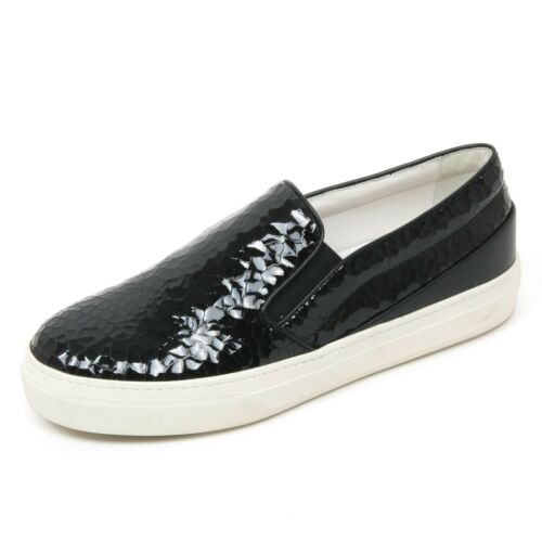 B9622 sneaker donna TOD/'S scarpa vernice nero slip on shoe woman
