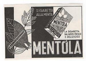 Pubblicita-1940-SIGARETTE-MENTOLA-CIGARETTES-SMOKE-advertising-werbung-publicite