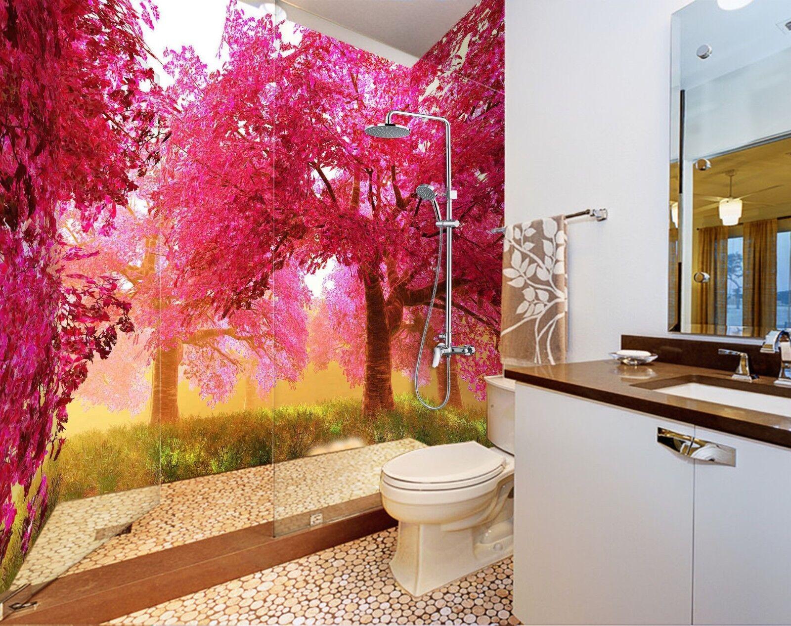 3D ROT tree lawn 6437 WallPaper Bathroom Print Decal Wall Deco AJ WALLPAPER UK