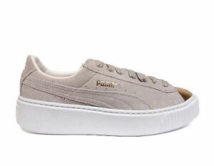 PUMA Women s SUEDE PLATFORM GOLD Casual Shoes Gold-Star White 362222 ... 35c55ee9d