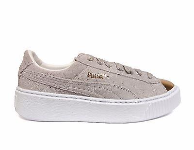 puma women's suede platform gold casual shoes goldstar