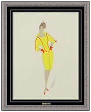 Erte Original Gouache Painting Folies Costume Design Signed Authentic Artwork
