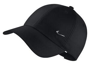 Nike-Adultes-Casquette-de-Baseball-H86-Casquette-NK-Metal-Swoosh-Noir
