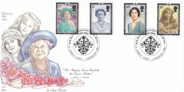 (17347) Gb Fourpenny Post Fdc Reine Mère 1900-2002 London Sw1 2002 Large SéLection;