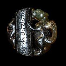 Good old Chinese carved jade pendant Han art design  ~pixiu