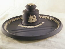 "Wedgwood "" Portland Blue "" Jasper Ware Desk Tidy, Superb & Extremely Rare !!!!."