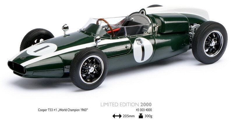 Schuco 00340 Cooper T53 Modelo F1 Car Jack Brabham 1960 campeón mundial 1 18th