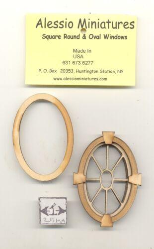 Keystone Oval 2131 wood dollhouse miniature 1:12 scale USA made Window