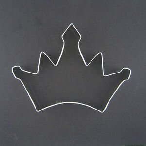 Crown 4 5 metal cookie cutter fondant king queen party for Football cookie cutter template