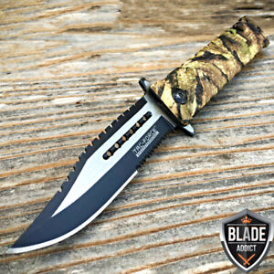 Tac Force Jungle Camo Spring Assisted Open Sawback Rescue Tactical Pocket Knife