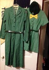 Vtg LOT OF 50s & 60s GIRL SCOUTS OF AMERICA UNIFORMS AND TROOP FLAG TOLEDO OHIO