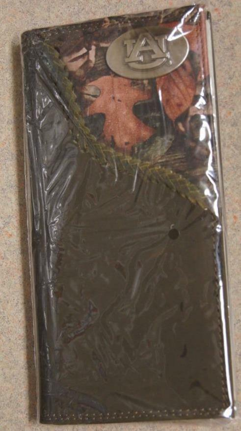 ZEP-PRO Auburn Tigers Mens Roper Leather Fence Row Camo Wallet Only NO BOX