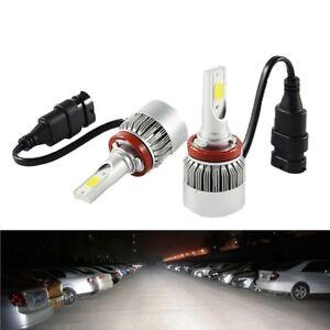 COPPIA-LAMPADE-LED-AUTO-FARI-H8-H9-H11-MOTO-LAMPADINE-36W-LUCE-BIANCA-6000K-FARO