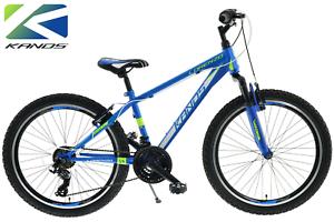 24 zoll jungen fahrrad kands lorenzo 18 g nge alter 8 13 blau shimano ebay. Black Bedroom Furniture Sets. Home Design Ideas