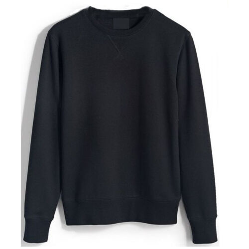 MENS BASIC CREWNECK SWEAT SHIRTS FOR SPORTSWEAR CASUAL FITNESS TOP