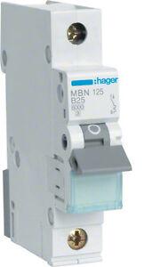 Hager-mbn125-Miniature-Circuit-Breaker-1-Pole-6ka-b-25a-1m