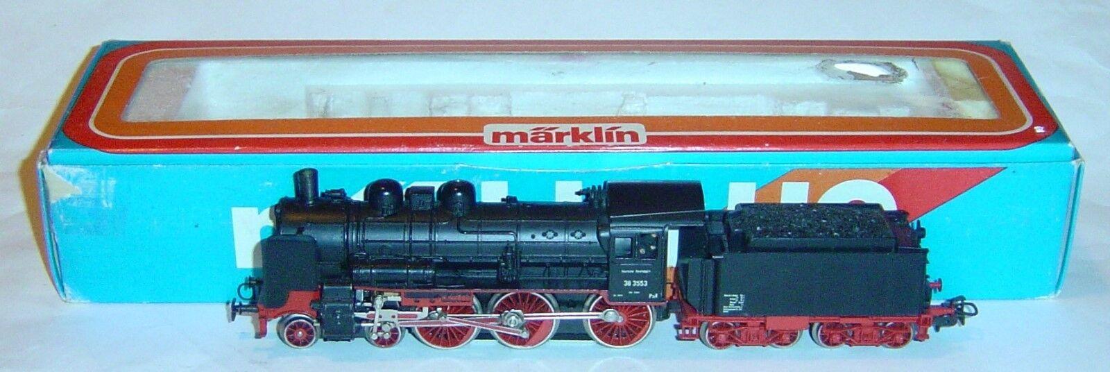MARKLIN HO, LOCOMOTORA BR38 3553 R.3099 ¡MAQUINISTA Y FOGONERO  DIGITAL OPCIONAL