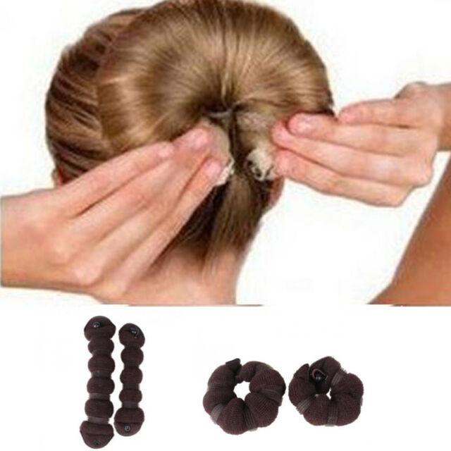 New 2pcs/set(1 large + 1 small) Fashion Magic Elegant Buns Hair Style Bun Maker