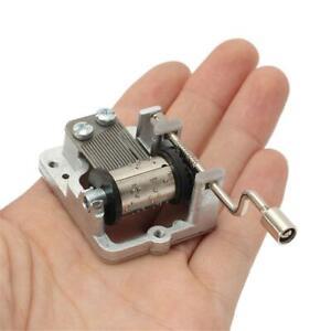 Mini-Note-Music-Hand-New-Decor-Collectible-Mechanical-Box-DIY-Crank-Movement