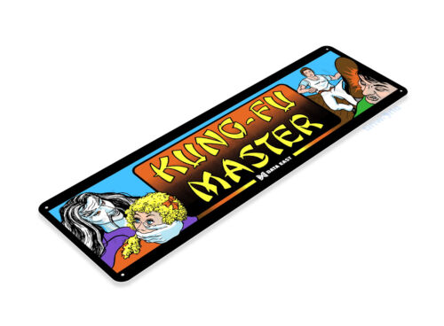 TIN SIGN Kung-Fu Master Arcade Shop Game Room Marquee Console Metal A466