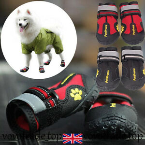 4PCS-Waterproof-Pet-Snow-Boots-Protective-Shoes-Dog-Booties-Black-High-Quality