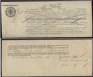 19022] - OBERLAUTERBACH (Elsass), Schuldschein über 570 Mark vom ...