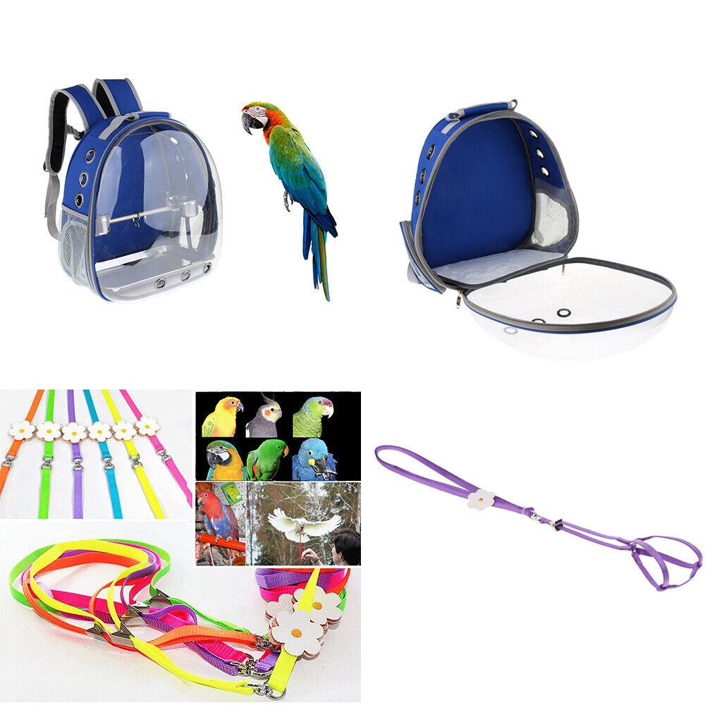 Comfort Bird Carrier Portable Parrot Backpack Bird Traction Strap for Bird