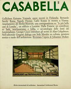Casabella (dir. Gregotti) n. 562 novembre 1989