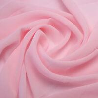 CHIFFON Stoff Rosa Delikat Durchsichtig Weich fallend Kleidung Meterware NEU