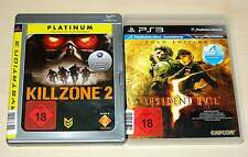 2 PLAYSTATION 3 PS3 SPIELE SAMMLUNG KILLZONE 2 RESIDENT EVIL 5 GOLD EGO SHOOTER