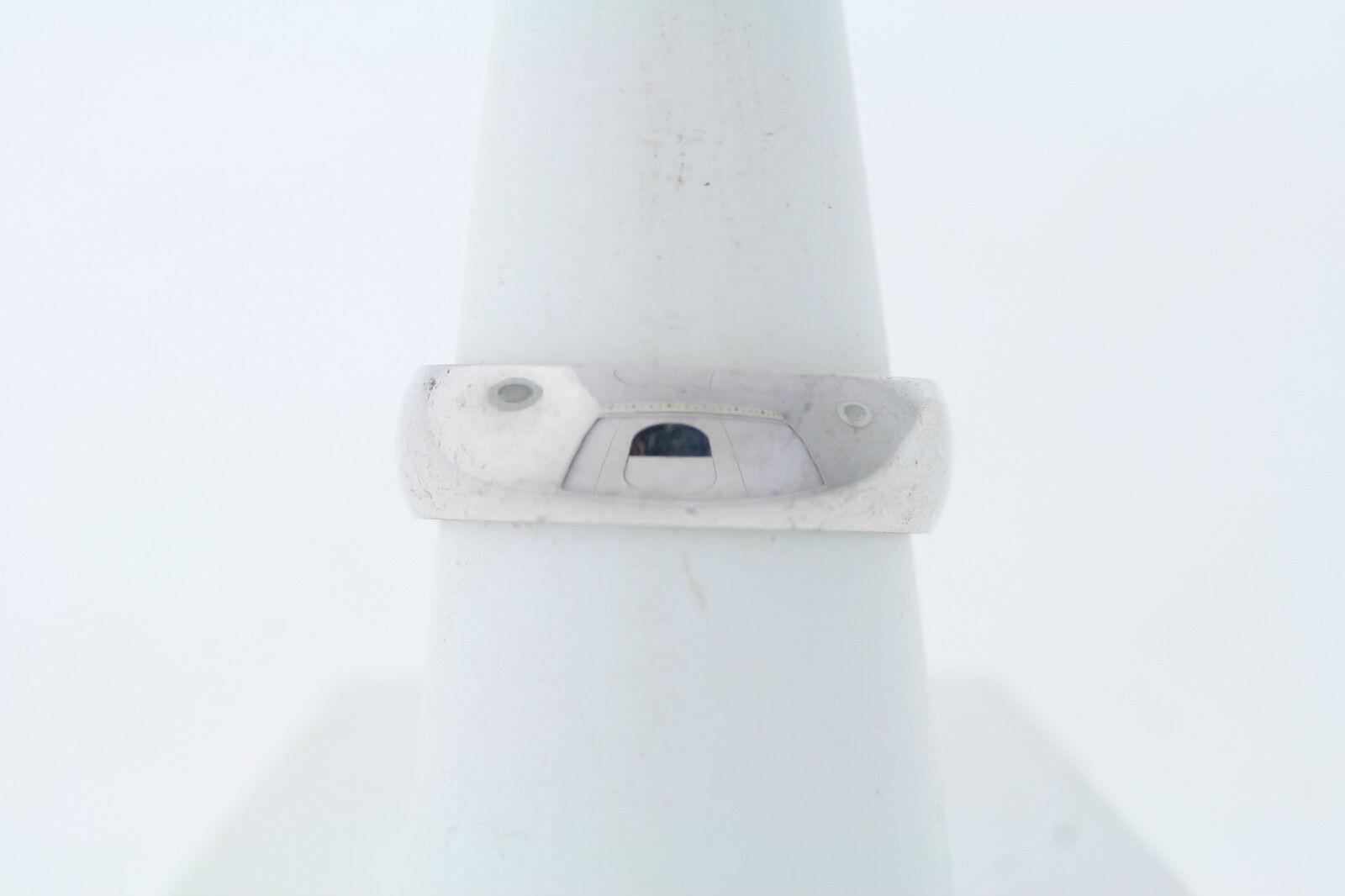 Acciaio Inox Bombato Comodo da Indossare Indossare Indossare Fedina 6mm ad8282