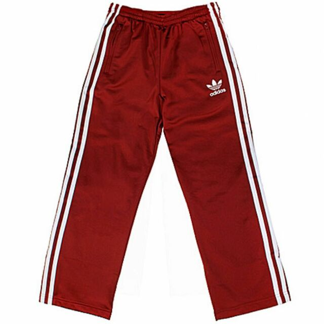 612da3dbe76fc adidas Firebird Pants GS Big Kids O 21108 Red Track Pants US Size 2 XS