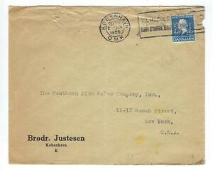 1935 Denmark To USA Cover With Perfins (RR38)
