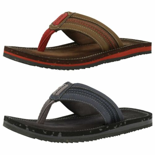 Casual Toe hombre Sun Clarks Flip Navy Brown Post Riverway Clarks Flop or para Sandalias ZUxS4w