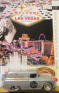 Hot Wheels Personnalisé '55 Chevy Panneau 2018 Las Vegas Convention Real Riders