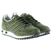 Adidas Originals LA Trainer Men's Khaki Green Leather Retro Sneakers