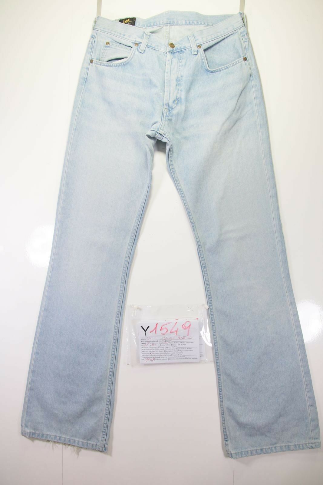 Lee Denver Bootcut ( Cod. Y1549) Tg.47 W33 L34 Jeans Used High Waist Flared