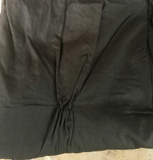 New West Elm Pintuck Slate Gray Pole Top Drape set of 2 Panels 42 x 96 curtains