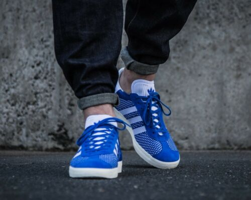 Originals Blue Primeknit Bnwb Trainers ® Adidas Size 6 Gazelle e Uk 5 autentico qfyq0tw4B