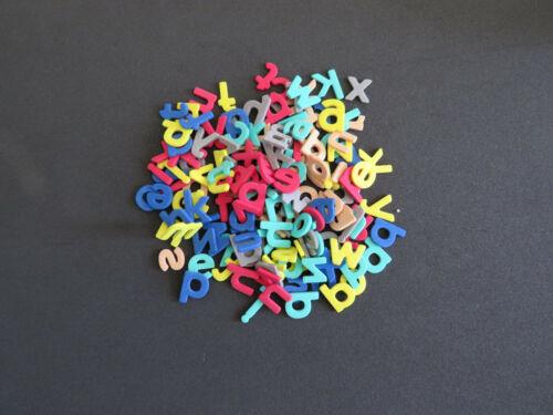 156 Moosgummi Kleinbuchstaben Schule Deko bunt 16 mm hoch