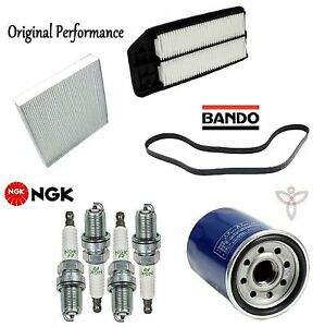 For Honda Accord 2.4L Tune Up Kit Filters Opparts Air Cabin Air Bosch Oil Plugs