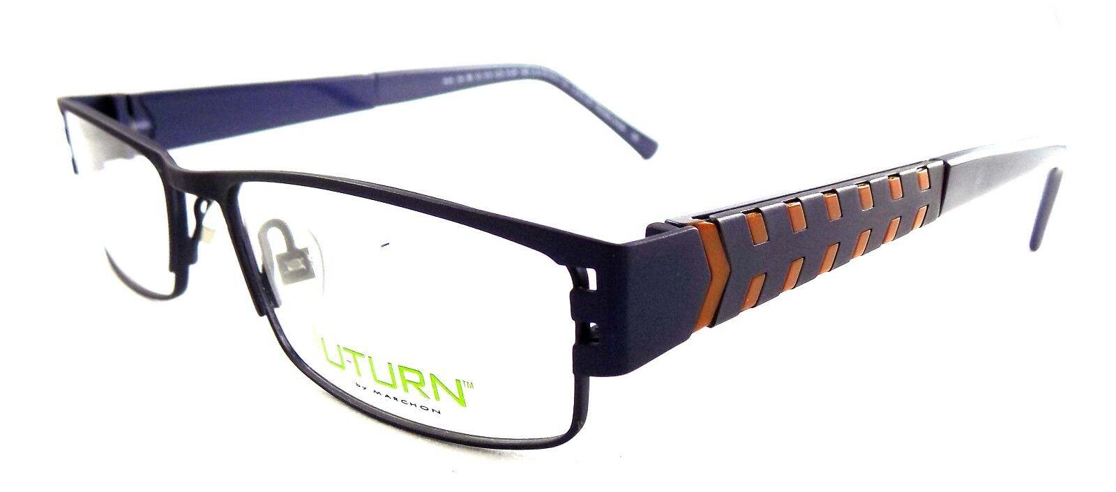 U-Turn by Marchon Rx Eyeglasses 2-in-1 Frames 116 414 Blue Tread ...